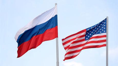 The Russian and American flags © mashabuba