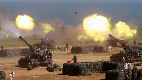 Military exercise in Hsinchu county, northern Taiwan. ©Pichi Chuang
