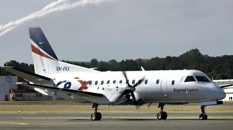 A Regional Express airlines SAAB 340 plane © The Canberra Times / Graham Tidy