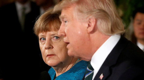 Germany's Chancellor Angela Merkel and U.S. President Donald Trump, Washington, U.S., March 17, 2017. © Jonathan Ernst