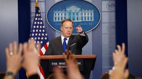 White House spokesman Sean Spicer. ©Kevin Lamarque