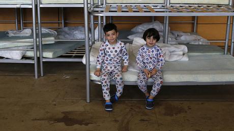 Refugee shelter in Berlin's Hohenschoenhausen district, Germany. ©Fabrizio Bensch