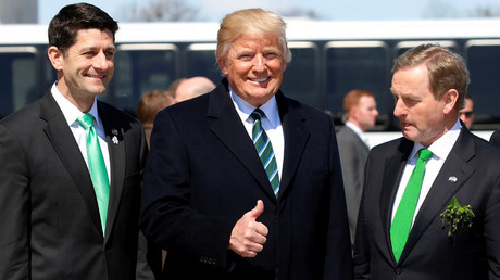 Trump, Ryan and Kenny attend the annual Friends of Ireland St PatrickТs Day lunch in Washington © Kevin Lamarque / Reuters