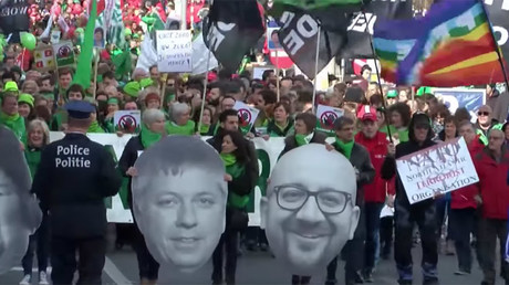 15,000 public sector workers rally against Brussels govt