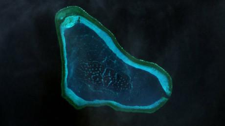 Scarborough Shoal landsat image © Wikipedia