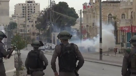 Tear gas vs. stones: Israel police and Palestinian protesters clash in Bethlehem