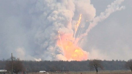 'Windows were shaking': Terrifying eyewitness stories as munitions inferno rages in Ukraine (VIDEO)