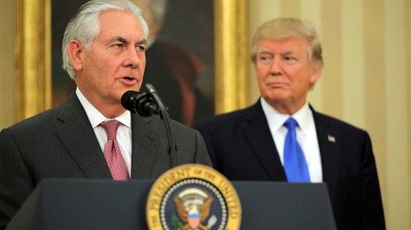 Rex Tillerson and U.S. President Donald Trump © Carlos Barria