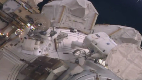 ISS crew on spacewalk to upgrade hardware, prepare for commercial missions