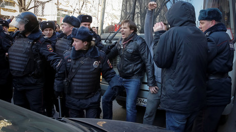 Dozens detained as opposition activists hold protests in several Russian cities (WATCH LIVE)