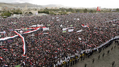 Mass protests mark 2nd anniversary of Saudi-led intervention in Yemen