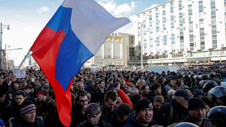 Arrests at unauthorized opposition rally in Moscow