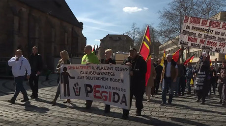 PEGIDA marks anniversary with Nuremberg march against Islamization, EU & Erdogan (VIDEO)