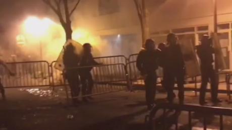 Anti-brutality protest & vigil for man killed by Paris cops turns violent (VIDEOS)