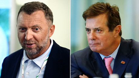 Oleg Deripaska (L) and Paul Manafort © Sputnik / Reuters
