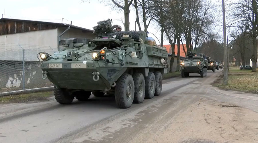 US-led NATO battle group arrives at Polish base (VIDEO)