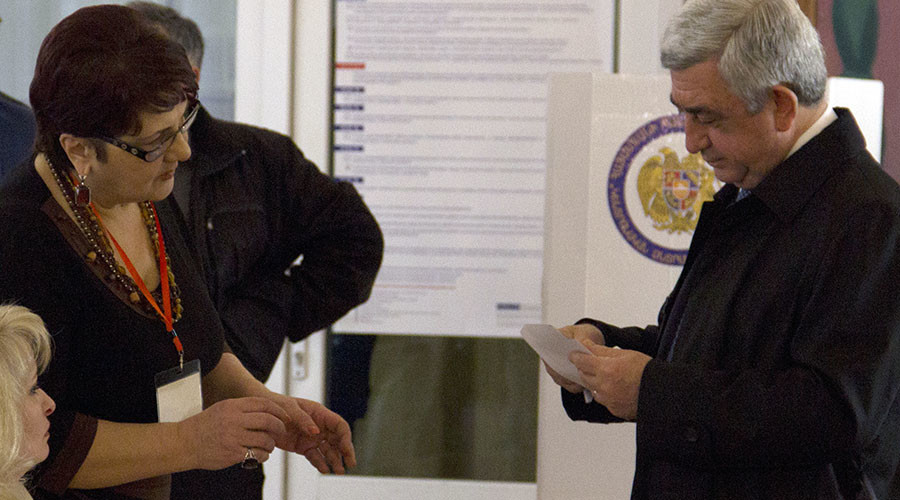 Armenia's ruling party wins parliamentary polls with almost 50% of votes