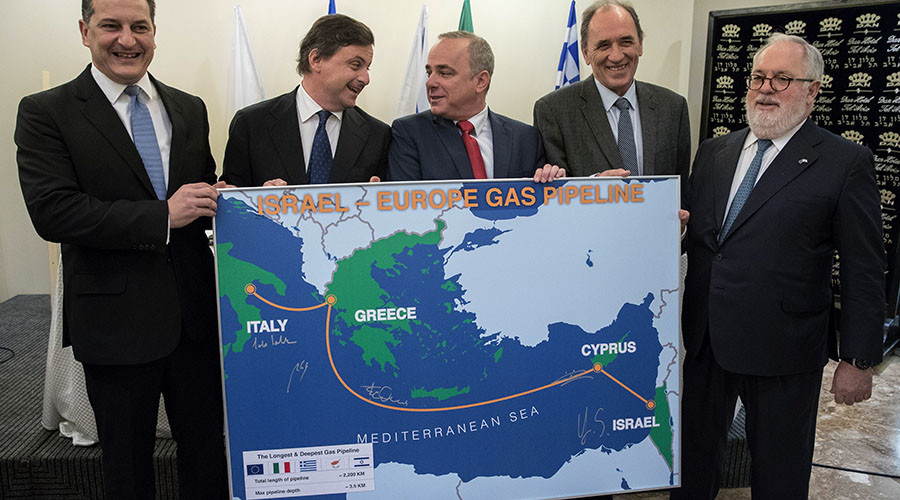 EU, Israel agree to develop Eastern Mediterranean gas pipeline
