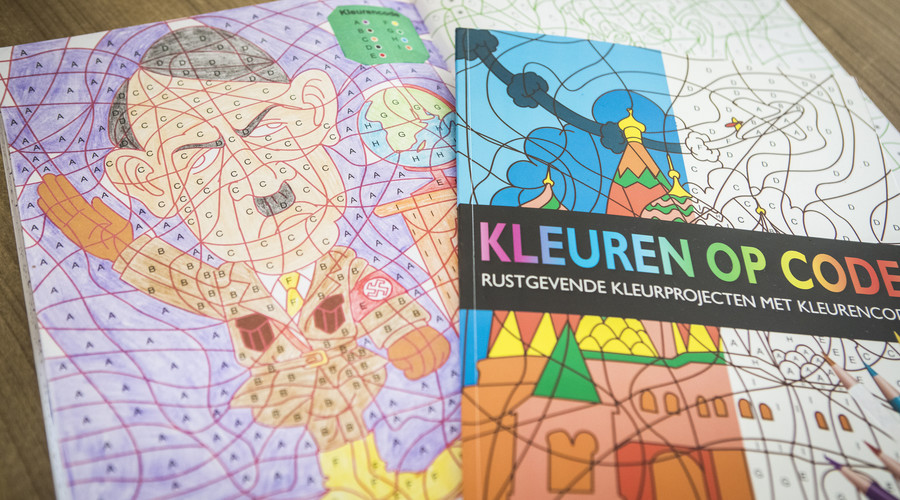 Dutch coloring book with Hitler's picture pulled from shelves