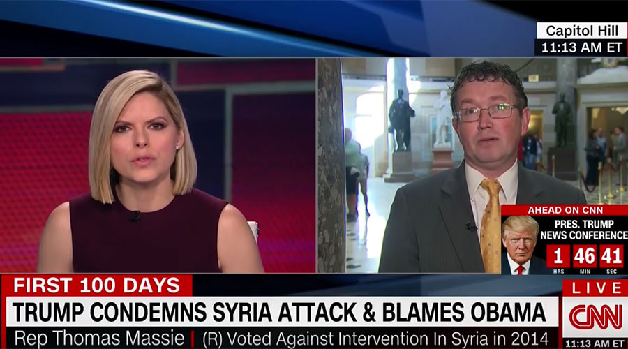 US rep shocks CNN anchor by questioning Syria gas attack narrative