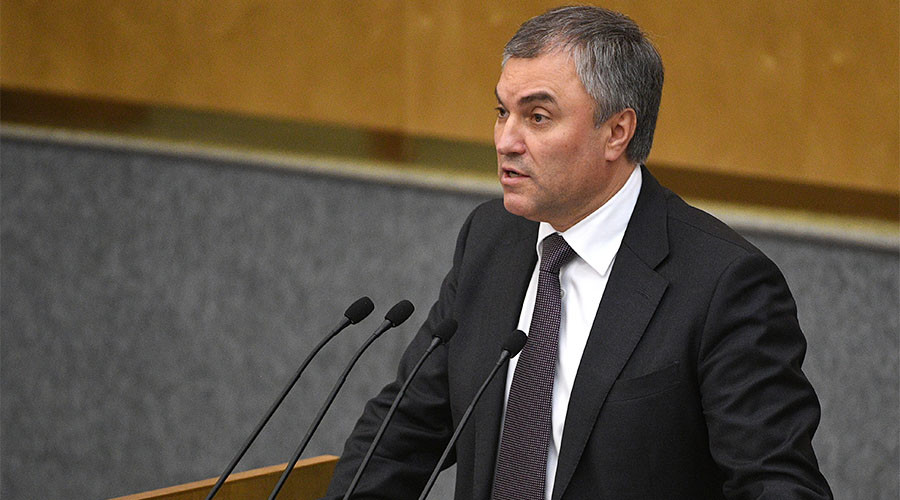 State Duma speaker warns US against taking military action that violates international law