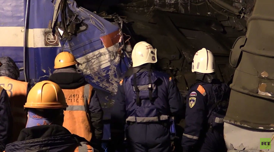 VIDEO of Moscow train collision aftermath