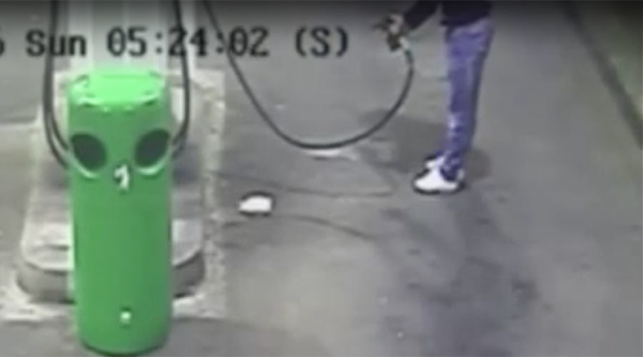 Man who tried to set himself alight at gas station jailed (VIDEO)