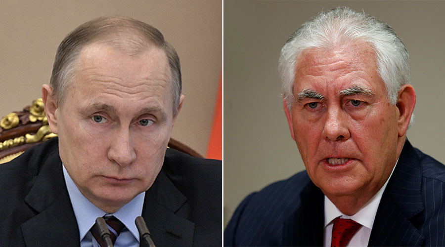 Putin finally meets Tillerson in Moscow