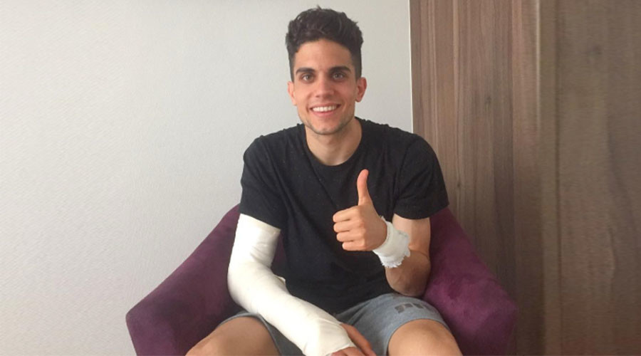 'Doing much better': Smiling Dortmund bomb attack victim Marc Bartra posts update