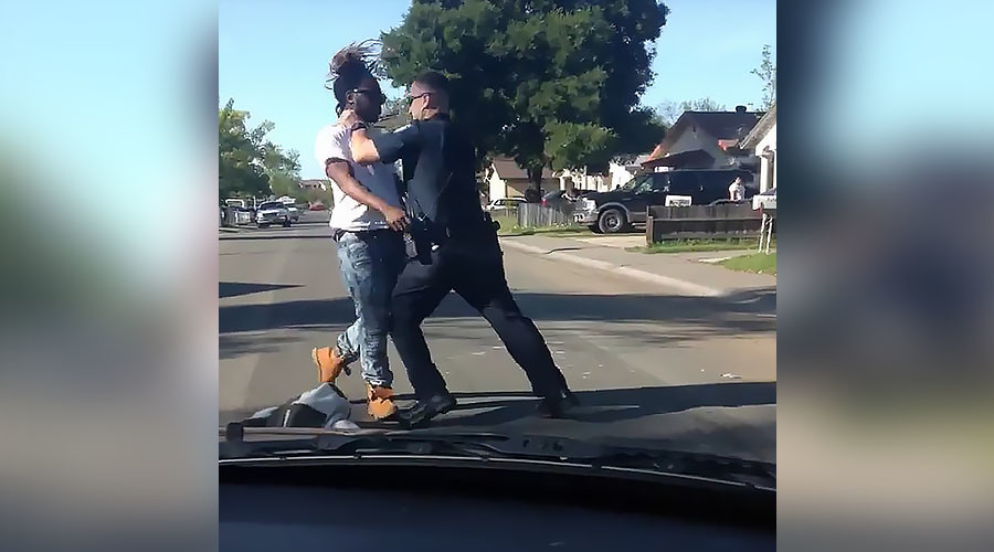 'Unacceptable': Sacramento police to investigate cop who punched jaywalking suspect (VIDEO)