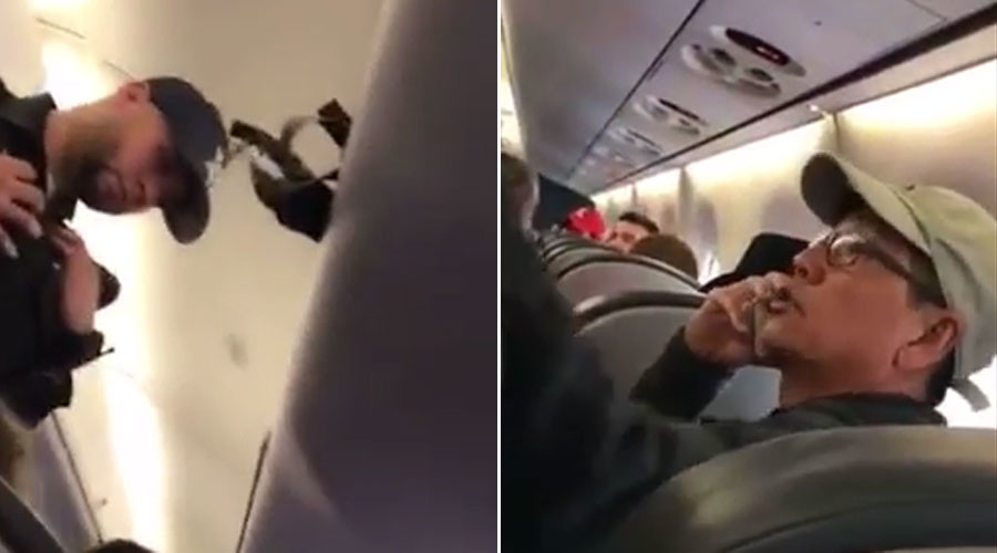 New United Airlines footage shows heated exchange before passenger dragged off plane (VIDEO)
