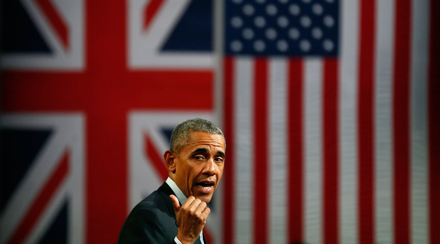 Obama flew to England to campaign but Guardian blames Putin for interfering in Brexit