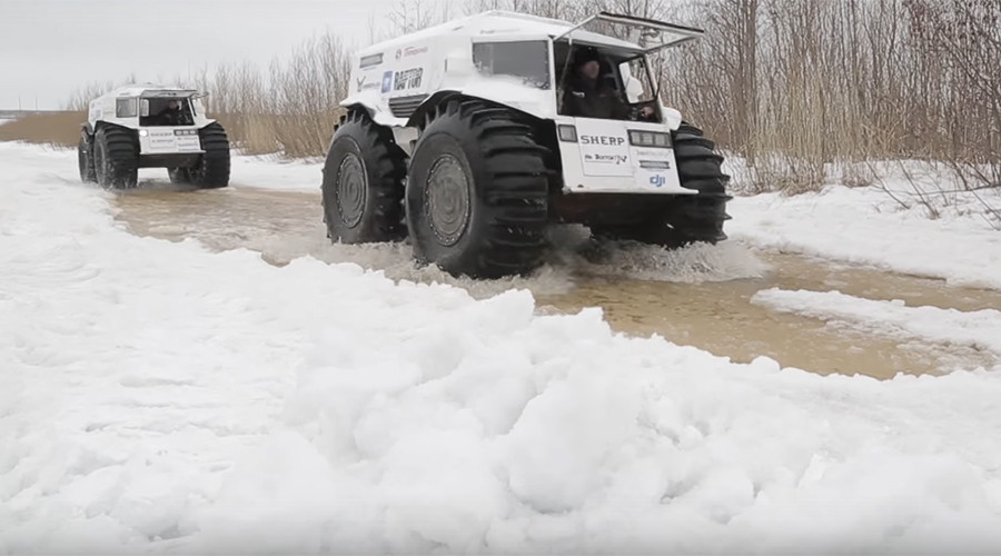 Monster Russian off-roaders set off on epic 10,000km Arctic expedition (VIDEO)