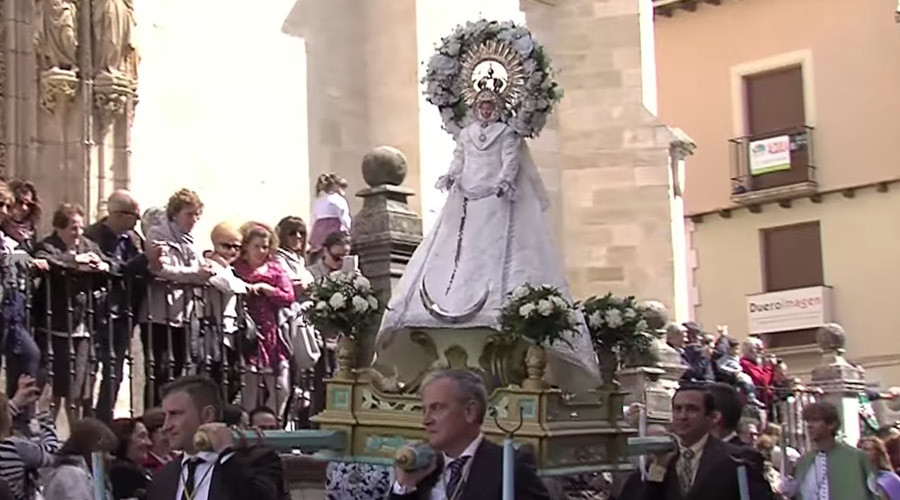 Christians at 'Descent of the Angel' ceremony in Spain during Holy Week