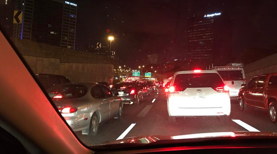 Toxic traffic: Chemical spill brings Atlanta highway to a standstill for over 5 hours (PHOTOS)