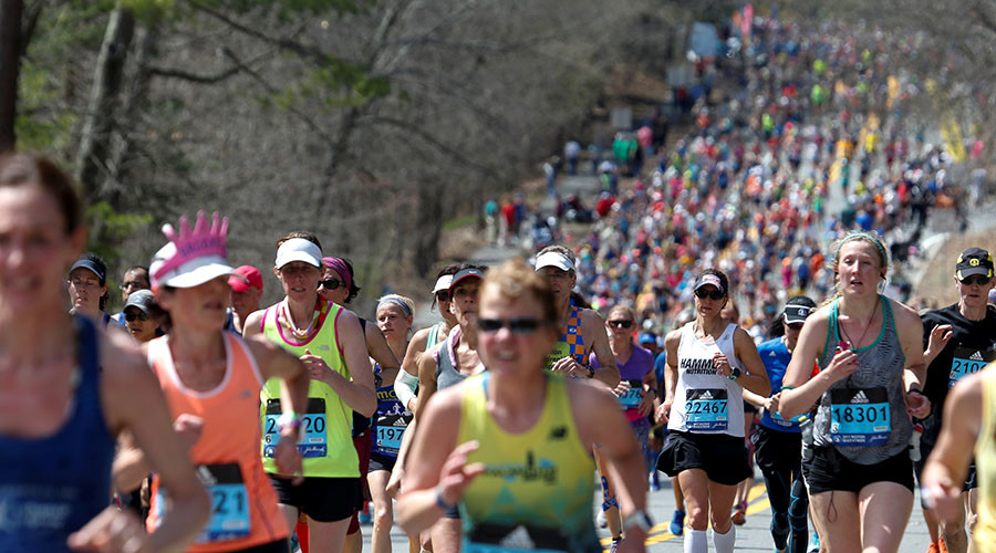 First woman to run Boston Marathon does it again 50 years later (VIDEO)