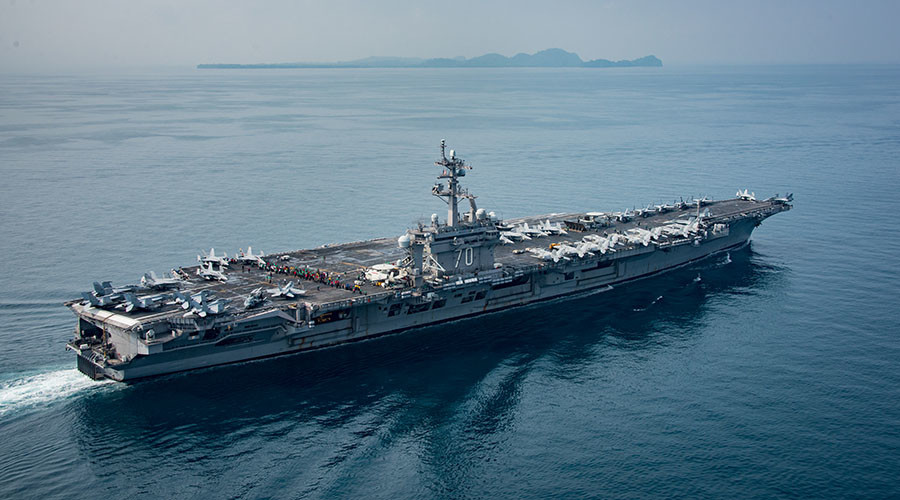 Trump's 'armada' turns toward North Korea as White House defends misleading remarks