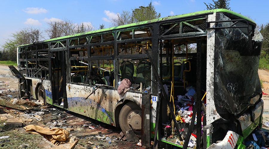 Syria bus bombing: 'Western media reporting bears zero resemblance to eyewitnesses' testimonies'