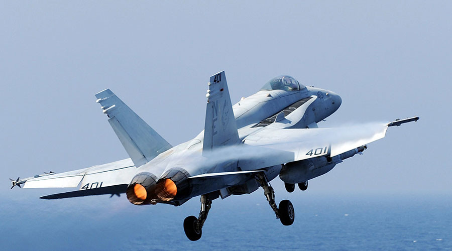 US Navy F-18 from carrier Carl Vinson crashes off the Philippines