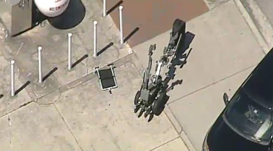 Police robot blows up suitcase in suspected bomb incident in Kissimmee, Florida