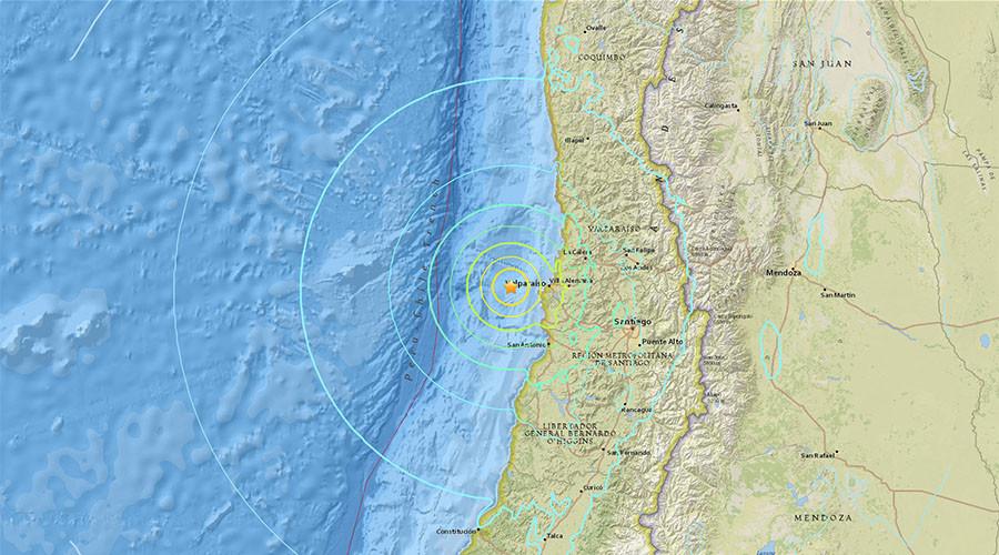 6.9 quake strikes off Chile coast near capital Santiago