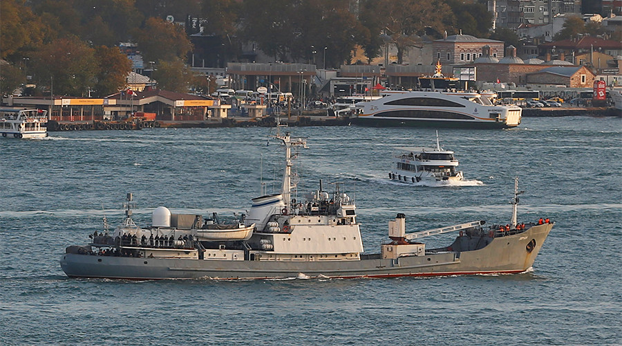 Russian Navy reconnaissance ship sinks after collision in Black Sea