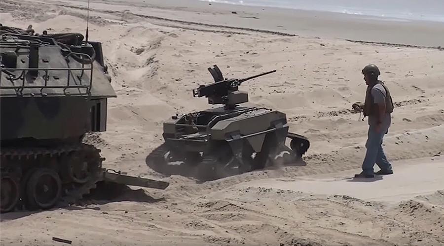 Future of beach warfare: US Marines test 'HyperSub,' machine-gun toting robots & more (VIDEOS)
