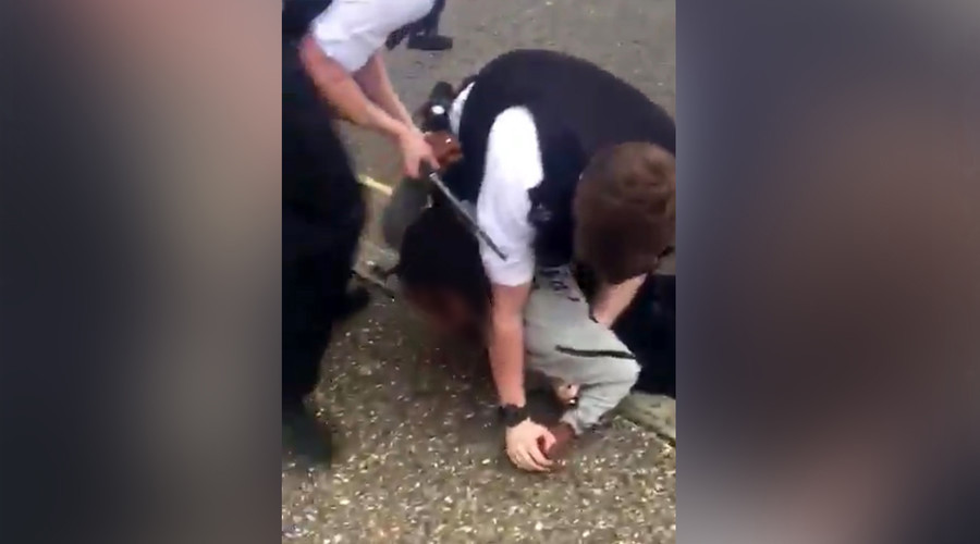 Police pin teen to ground, beat him with baton in shocking footage (VIDEO)