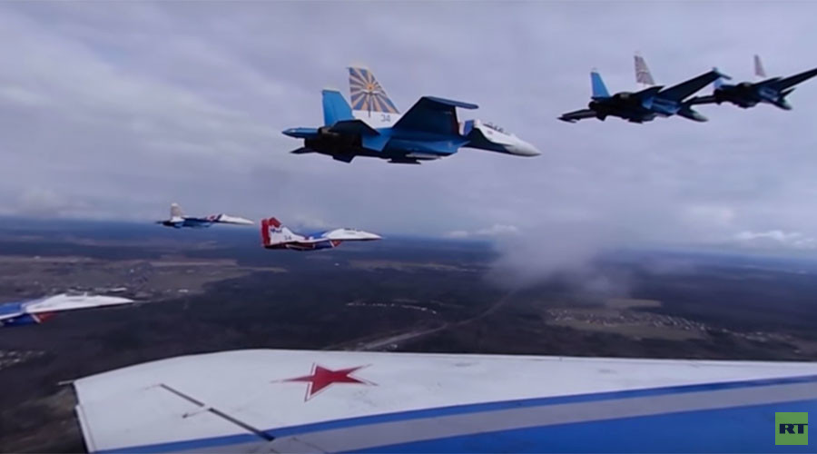 Fighter jets supreme: Watch Russian teams' aerobatic moves in gorgeous 360 (VIDEO)
