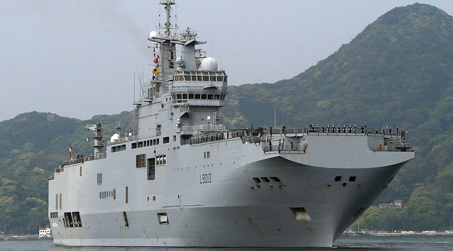 French helicopter carrier with 2 British rotorcraft arrives in Japan
