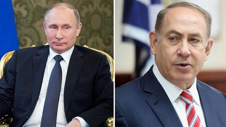 Russian President Vladimir Putin (L), Israeli Prime Minister Benjamin Netanyahu (R) © Reuters
