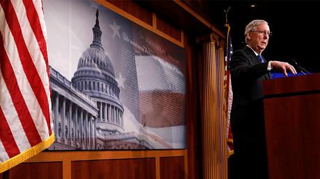 U.S. Senate Majority Leader Mitch McConnell at the U.S. Capitol, Washington, April 7, 2017. © Aaron P. Bernstein