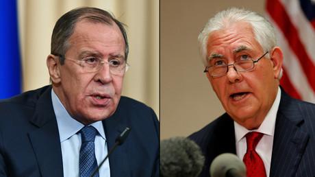 Russian Foreign Minister Sergei Lavrov and U.S. Secretary of State Rex Tillerson © Sputnik / Reuters