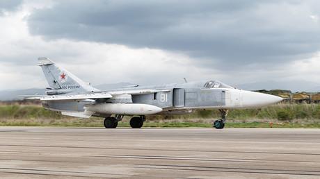 FILE PHOTO. Sukhoi Su-27 fighter aircraft. Khmeimim Air Base in Syria. ©Vadim Grishankin